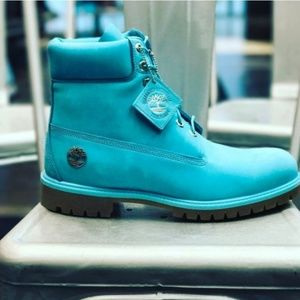 LIMITED EDITION TEAL TIMBERLAND BOOTS